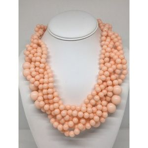 BaubleBar Pink/Peach Beaded Necklace